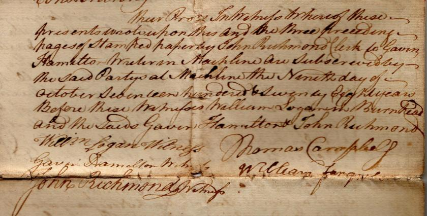 Pencloe Paper 1778