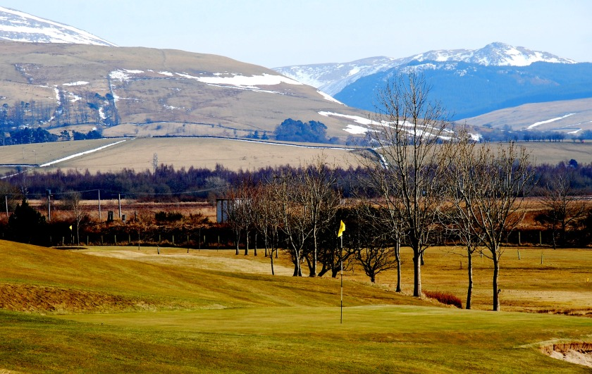 New Cumnock Golf Course with Glen Afton in the background