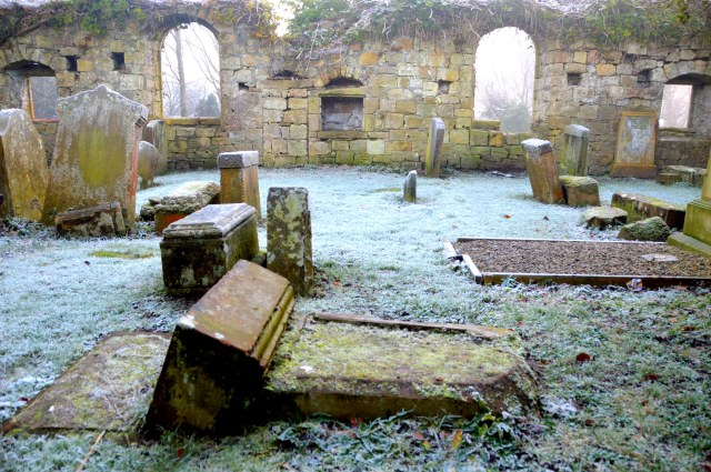 Janet Lapraik's resting place in the Auld Kirk, New Cumnock