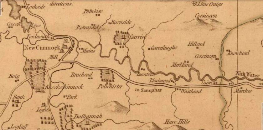 Armstrong's Map of Ayrshire (1775) Courtesy of Natinal Library of Scotland