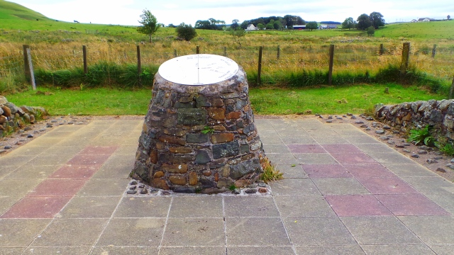 Knockshinnoch Memorial with 13 in the flagstones
