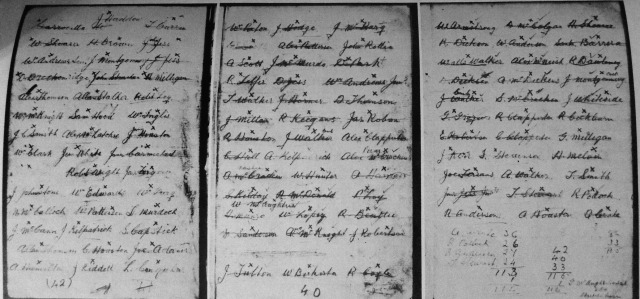 List of trpped men 'Courtesy Black Avalanche by A & M Selwood'