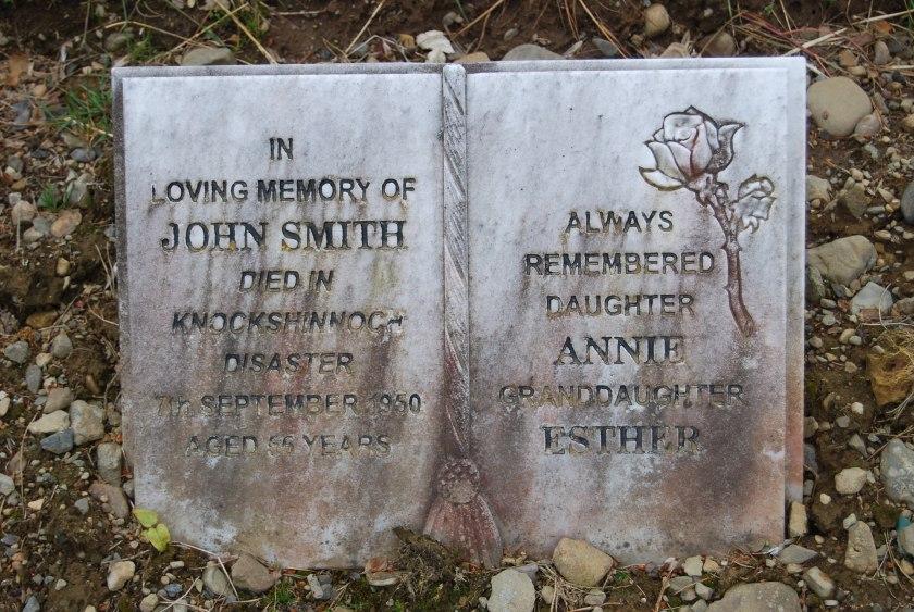 John Smith memorial stone at Afton Cemteery