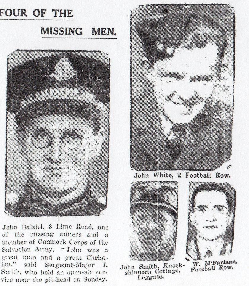 John Dalzell, John White, John Smith and William MacFarlane