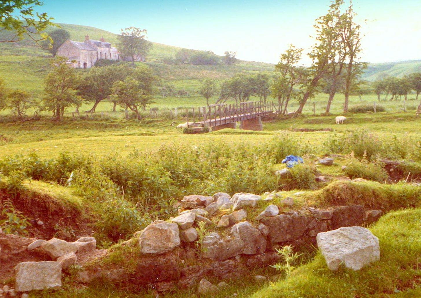 Waterhead Castle ruins 1980